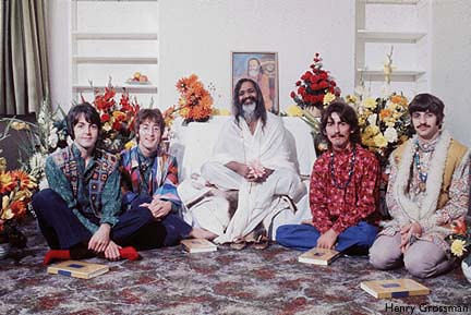 "The Beatles and the Maharishi from ""What Sexy Sadie Did"" on Hey Dullblog"