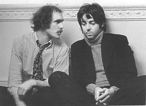 Neil Aspinall and Paul McCartney in 1969