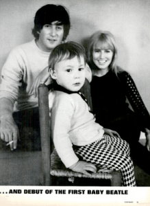 Beatles in LIFE Magazine: John, Cyn and Julian, 1965