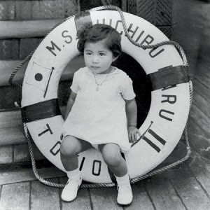 Yoko Ono as a child