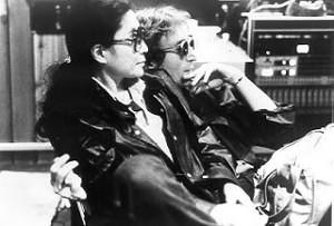 John and Yoko in studio 1980