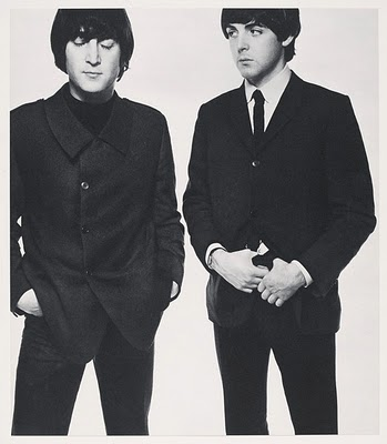 Lennon and McCartney by David Bailey, 1965.