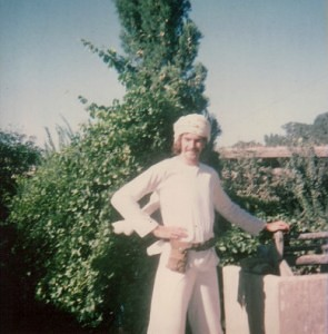 Big Mal at the Maharishi's ashram in Rishikesh, 1968
