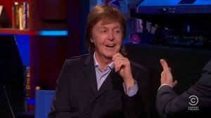 Paul McCartney on The Colbert Report, 6/12/13.