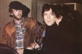 Lennon and Nilsson outside the Troubadour, 1974