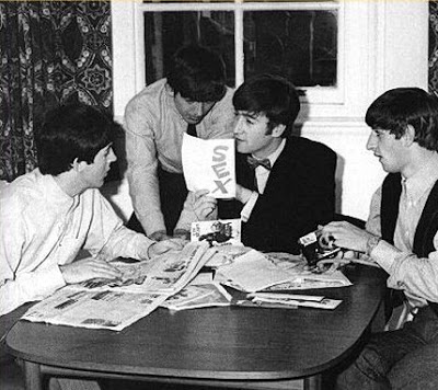 """Beatles reading fan mail, including a card reading """"S E X."""""""