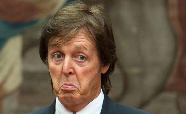 Paul McCartney makes a funny face