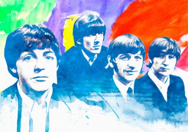 beatles watercolor