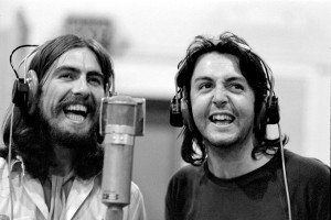 Paul and George Abbey Road sessions