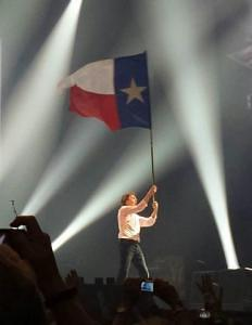The most surreal sight of the evening for me, born and raised in Texas.