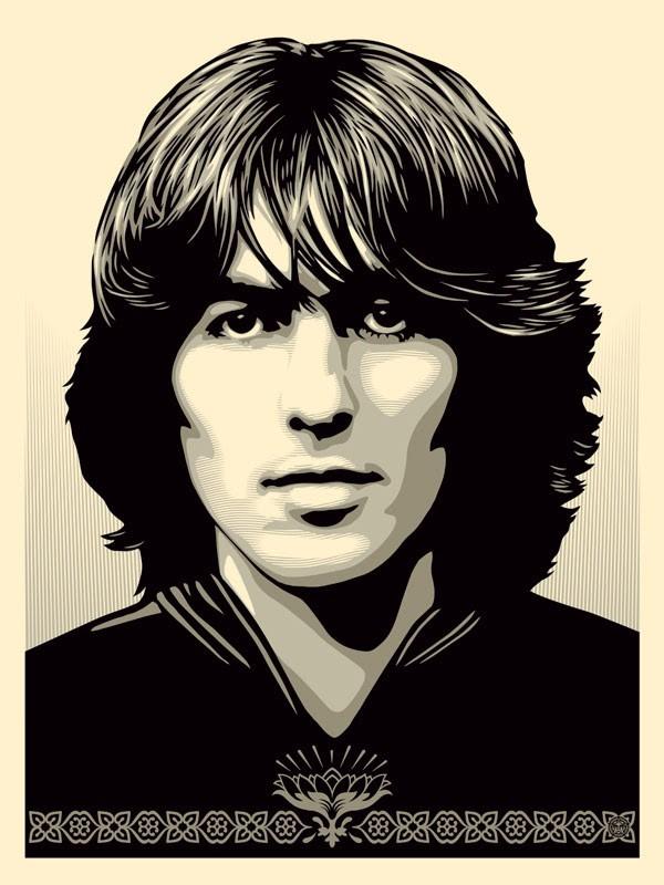 Shepard Fairey George Harrison Poster