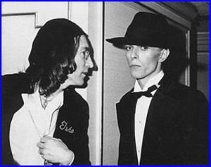 John Lennon and David Bowie