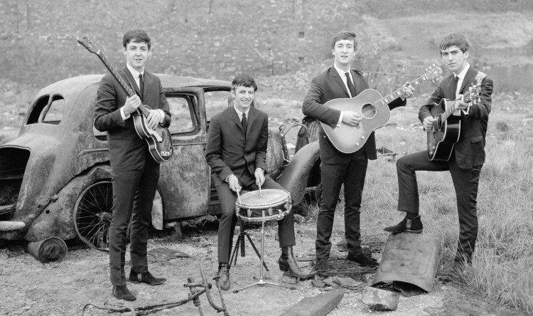Beatles and car