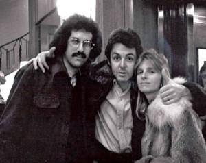Mark Lapidos with Paul and Linda McCartney, 1976