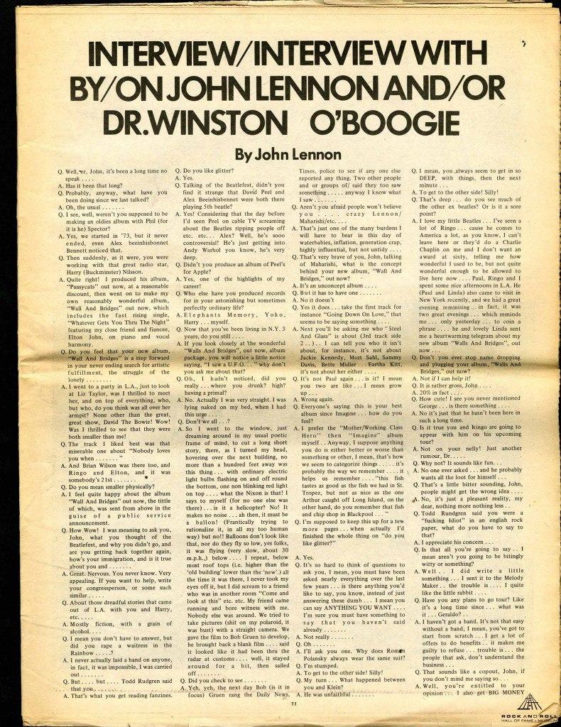 Lennon UFO Interview 1974