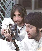 John and Paul in India, 1968